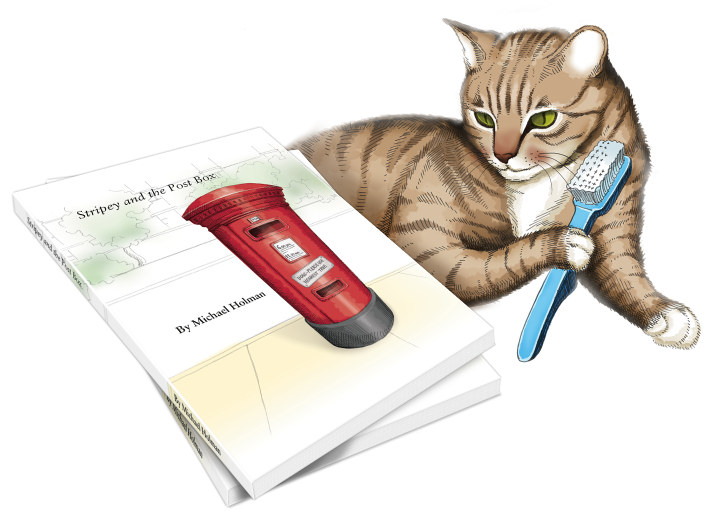 Stripey and the Post Box Illustration