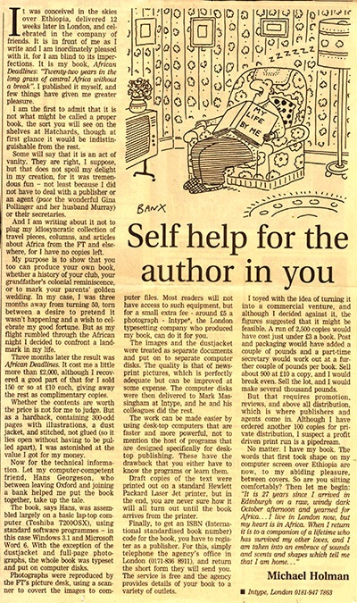 Self help for the author in you