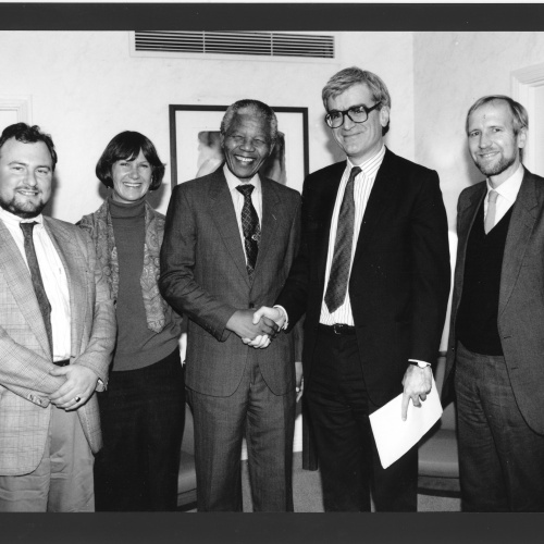 Michael Holman with Nelson Mandela